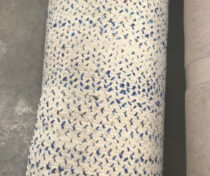 natural with blue wool flatweave $2/sf part of warehouse sale