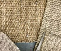 Natural fiber remnants $2/sf, part of the Floor Collection's warehouse sale